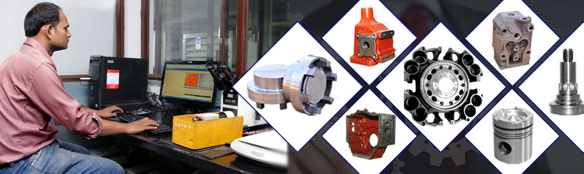 Collage of ductile iron castings, machined components, worm gears, spur gears, sand castings, investment castings and die castings